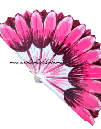 abanico-pintado-tulipanes-boda