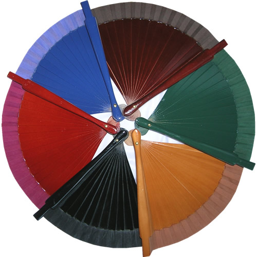 lote oferta 24 abanicos de bolso colores surtidos