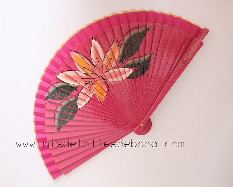abanico-rosa-pintado-a-mano