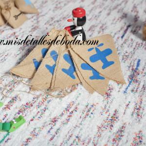 banderines-avion-azul-yute