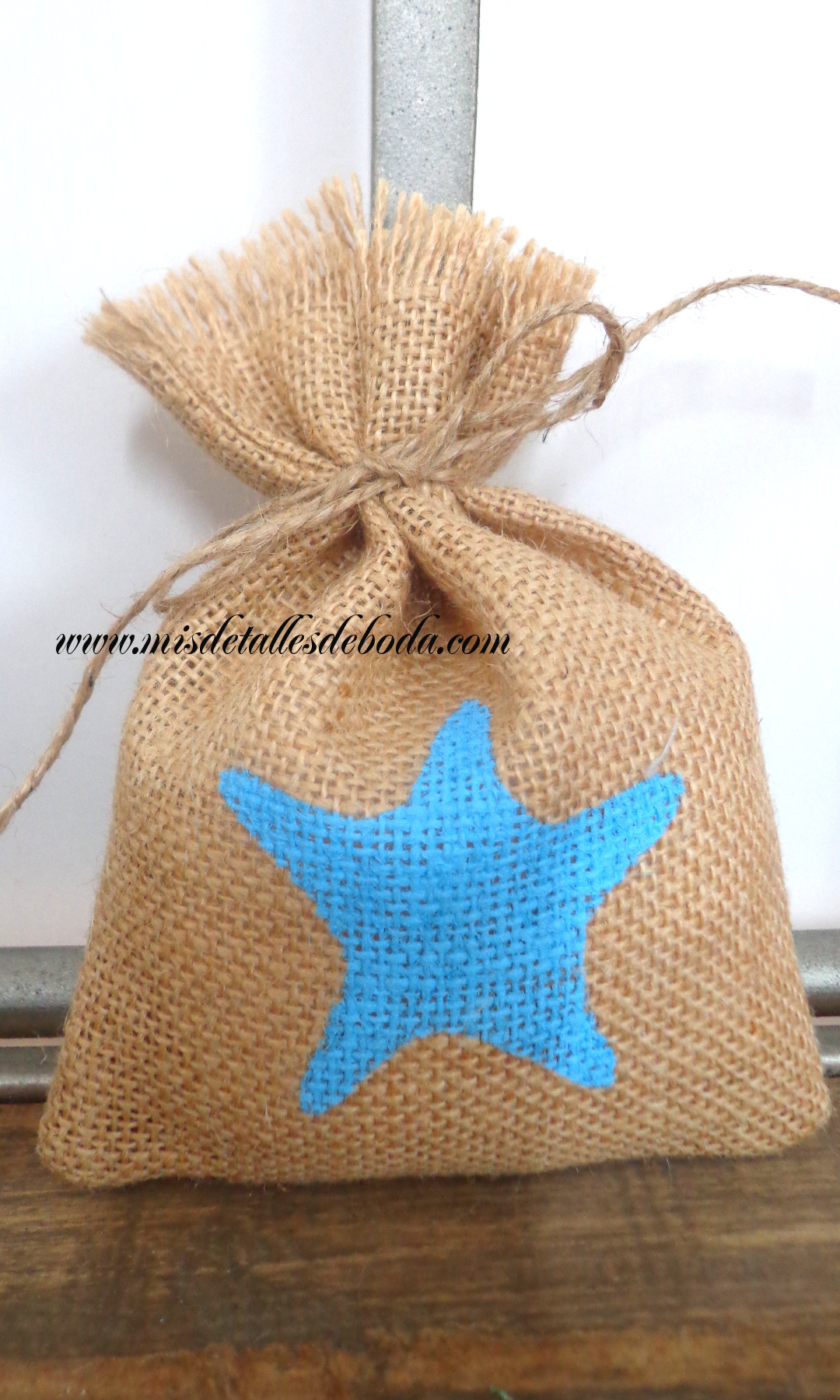 Saco de arpillera pintado estrella de mar varios tama os - Saco arpillera ...