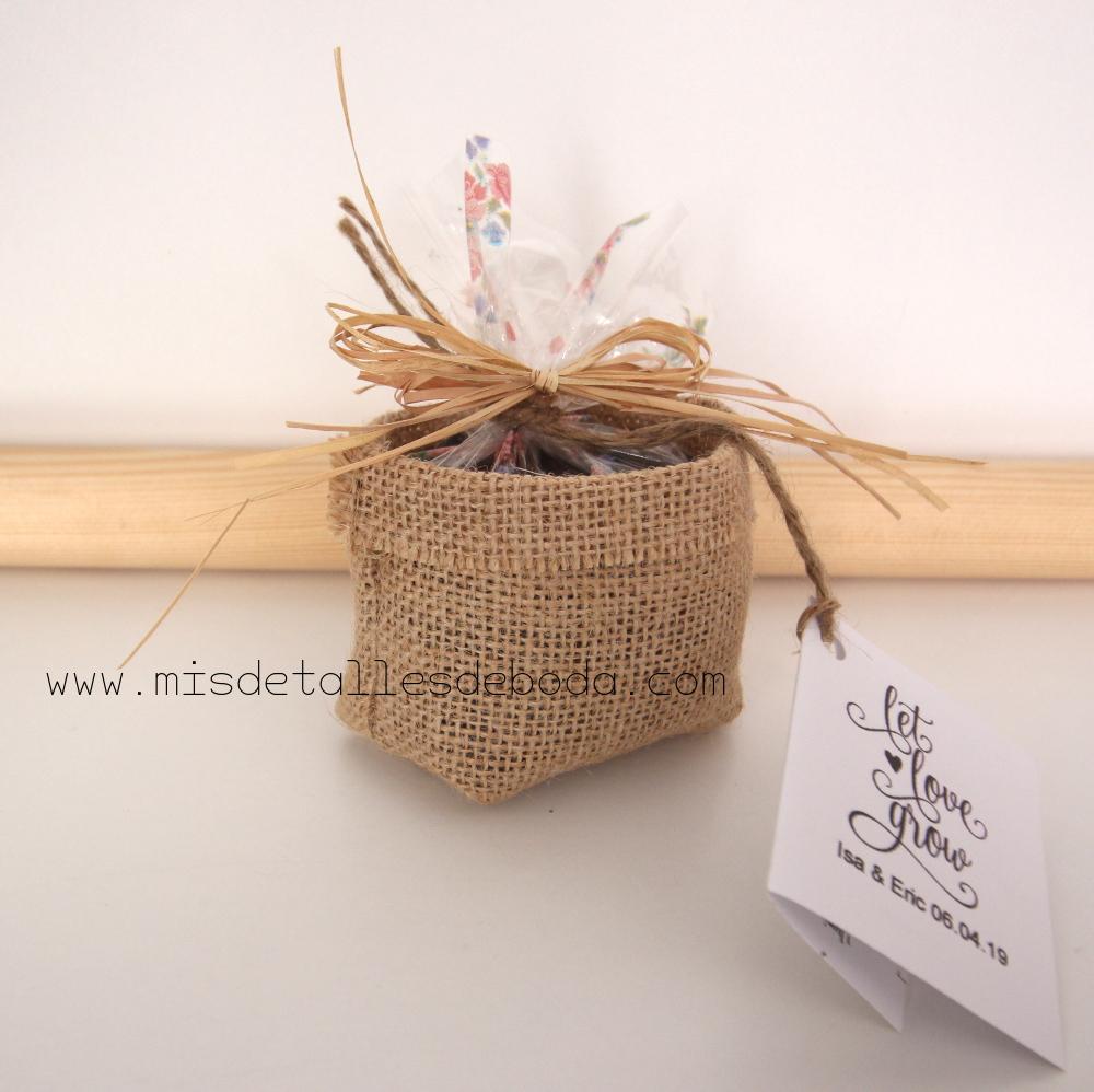 be239aab65c Mini maceta con semillas para plantar mis detalles de boda jpg 1000x998 Mini  macetas decoradas con