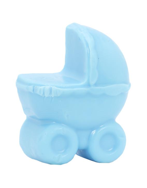 jabon en forma de cochecito azul