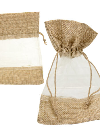 bolsa de yute con tull original