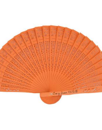 abanico-sandalo-naranja-personalizado