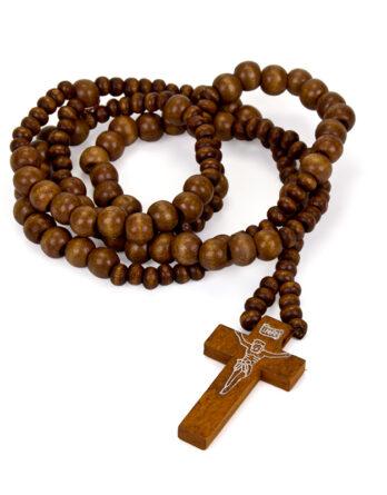 colgante madera cruz