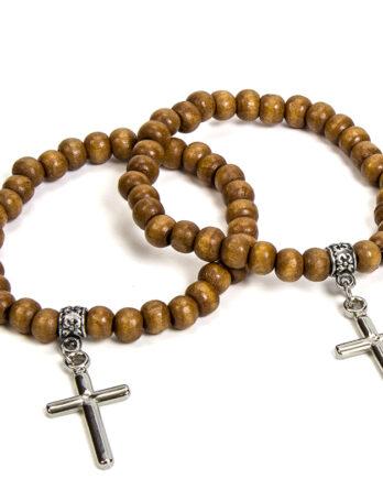 pulsera con cruz para comunión