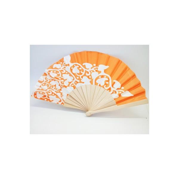 abanico-madera-naranja-blanco