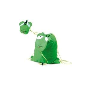 mochila-plegable-rana-verde