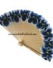 abanico-pintado-mano-flores-azul