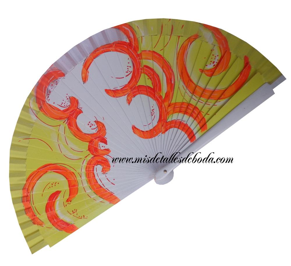 abanico-pintado-mano-viento-amarillo