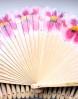 abanico diadema de flores grabado personalizado