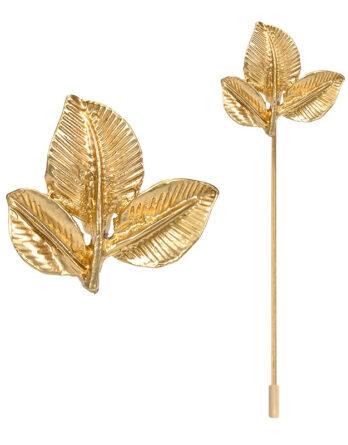 alfiler hojas doradas