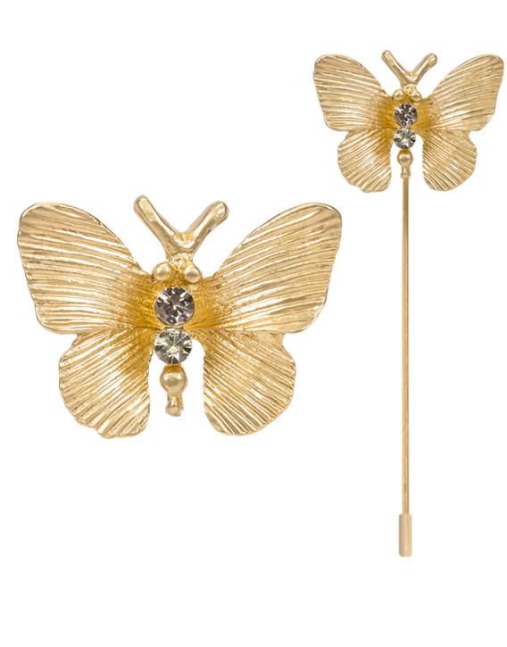 alfiler mariposa dorada