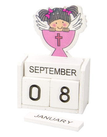 calendario de madera original recuerdo comunión