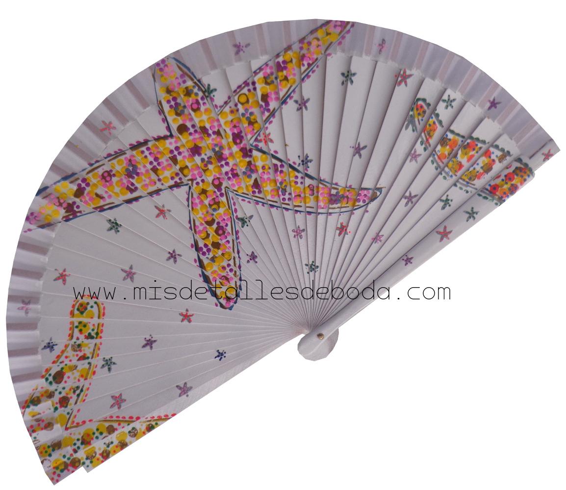 abanico-pintado-mano-estrella-de-mar